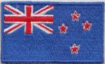 New Zealand Embroidered Flag Patch, style 04.